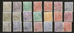 Finlande - 1954/72 -  Lion Avant Et Après La Réforme Monétaire - Petit Lot De 19° + Paire Se Tenant - Vrac (max 999 Timbres)