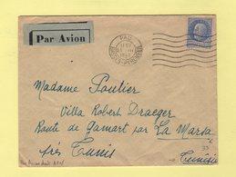 Type Petain - 2f50 Sur Lettre Par Avion Pour AFN Tunisie - 23-3-1942 - 1921-1960: Periodo Moderno