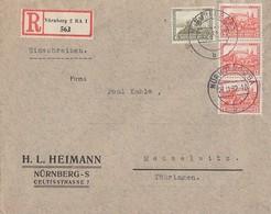 DR R-Brief Mif Minr.475,3x 476 Nürnberg 26.11.32 - Deutschland