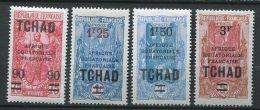 7663  TCHAD  N°47/52 * Sauf 51/2  Types De 1922 Avec Surcharge II  Et Nouvelle Valeur     1926-27    TB - Ongebruikt
