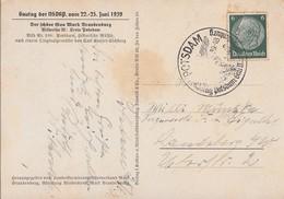 DR Sonderkarte Zum Gautag Der NSDAP Vom 22.-25.6.39 SST Potsdam - Briefe U. Dokumente