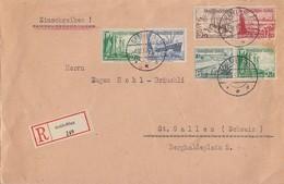 DR R-Brief Mif Minr.653,658 Zdr. Minr.W131,W123 Gräfelfing 6.12.37 Gel. In Schweiz - Briefe U. Dokumente