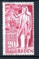 Baden   / N 54 / 20p + 10 P Rouge  / NEUF** - Baden