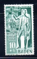 Baden   / N 53 / 10p + 5 P Vert   / NEUF ** - Baden