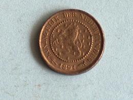 PAYS BAS 1/2 Cent 1891 Netherlands / Holland Un Demi - 0.5 Cent