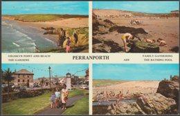 Multiview, Perranporth, Cornwall, C.1970 - Harvey Barton Postcard - England