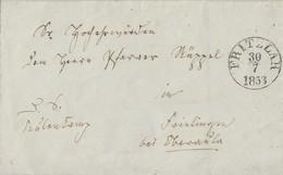 Thurn & Taxis Brief K1 Fritzlar 30.7.1853 Mit Diversen Anderen Stempeln Ansehen !!!!!!!!!! - Thurn Und Taxis