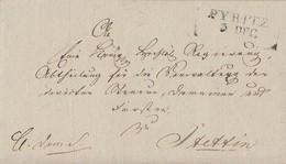 Preussen Brief L2 Pyritz 3.12. Gel. Nach Stettin - Preussen