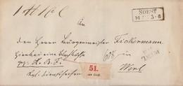 Preussen Paketbegleitbrief R2 Soest 14.11. Gel. Nach L2 Werl 14.11. - Preussen