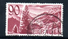 Baden   / N 37 /  90 Pf Lilas / Oblitéré / Côte 110 € - Bade