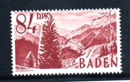 Baden   / N 26 /  84 Pf Lie De Vin  / NEUF** - Baden