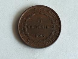 ITALIE ROYAUME DE SARDAIGNE - CHARLES-FÉLIX 3 Centesimi 1826 Bologne - Temporary Coins