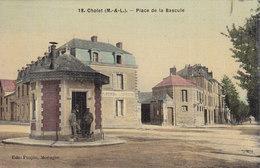 CHOLET Place De La Bascule Carte Couleur Toilée - Cholet
