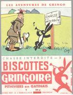 Buvard Biscottes Gringoire - Chasse Interdite N° 3 - Très Bon état - Cocoa & Chocolat