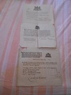 3 Documents Etat Civil Amsterdam Pays Bas 1743 Et 1758 ? Concernant Livinius Eggerik - Historical Documents