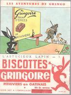 Buvard Biscottes Gringoire - L'astucieux Lapin N° 5 - Très Bon état - Cocoa & Chocolat