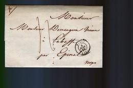 Lettre     Cachet  Nancy  1850:   Adressé    Au Maire     Vosges - 1849-1876: Période Classique