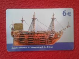 ANTIGUA TARJETA TELEFÓNICA PHONE CARD MUSEO NAVAL ESPAÑA SPAIN BARCO SHIP GALEÓN NUESTRA SEÑORA DE LA CONCEPCIÓN VER FOT - Espagne