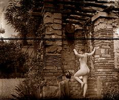 NU MAISON CLOSE TIRAGE MODERNE D APRES PLAQUE PHOTO ANCIENNE - Repro's