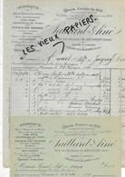 25 - Doubs - VILLARS-LES-BLAMONT - Facture SAILLARD - Fabrique De Pipes - 1899 - REF 95 - 1900 – 1949