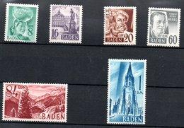 Baden   / Série  N 22 à 27 / NEUFS Avec Trace De Charnière - Baden