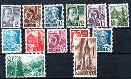 Baden   / Série  N 1 à 13 / NEUFS** - Baden