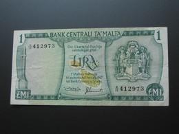 MALTE - Lira - 1 Pound 1973 - Bank Centrali Ta Malta   **** EN ACHAT IMMEDIAT  **** - Malta