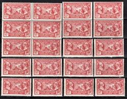 FRANCE 1927 -  LOT DE 20 TP  Y.T. N° 244 - NEUFS* - France