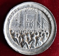 FRANCE-1848- LAMARTINE A LA CHAMBRE DES DEPUTES - GRAND METAL BLANC - France