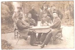 CHAUMONT -  Photo De Groupe Du 109ème  Régiment . Soldats Jouant Au Cartes. - Chaumont