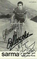CYCLISME EDDY MERCKX - Team Molteni  SIGNEE 1973 ET DEDICACE  (2 Scans) - Cycling