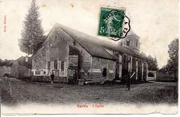 10 - EGUILLY - Lot De 2 Cartes Le Moulin Et L'Eglise (mauvais état) - Frankreich