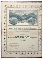 Compagnie Du CdF électrique Aigle-Sépey-Diablerets - 1911 - N. 772 - Actions & Titres