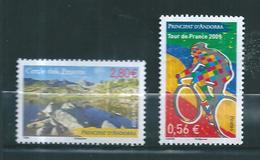 Timbres D'andorre De 2009  N°676/77  Neufs ** Vendu A La Valeur Faciale - Nuevos