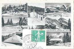 Les Paccots - Station De Ski  (Multivue)         Ca. 1950 - FR Fribourg