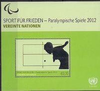 2012  UNO Wien Mi. Bl 31   **MNH  . Paralympische Sommerspiele, London. - Wien - Internationales Zentrum