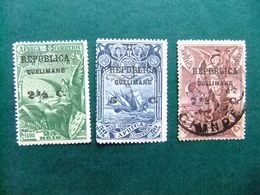 QUELIMANE 1913 Vasco De Gama Sellos De 1898 De Afica Yvert 4 - 6 MH / FU - Quelimane