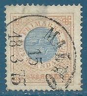 Suède N°25B 1r Bistre Et Bleu (dentelé 14) Oblitéré - Suède