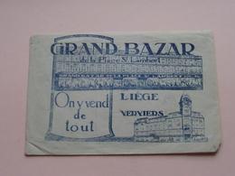 GRAND BAZAR De La Place St. LAMBERT On Y Vend De Tout ( Liège - Verviers ) ( Formaat 15 X 10 Cm) Zie Foto's ! - Publicités