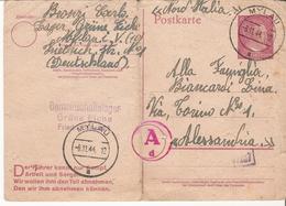 Asta Senza Riserva - Lettera Su Cartolina Postale Di Un Prigioniero Del Lager Nazista Di Mylau - 1944 - War 1939-45