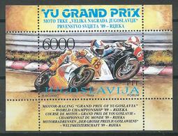 Yougoslavie Bloc-feuillet YT N°33 Grand Prix De Yougoslavie De Moto à Rijeka Neuf ** - Blocs-feuillets