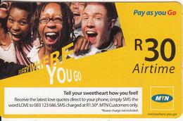 SOUTH AFRICA - People, MTN Prepaid Card R30, Used - Zuid-Afrika