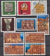 DDR - Archäologische Funde & Forschung Motivlot 10 Werte Used - Archäologie