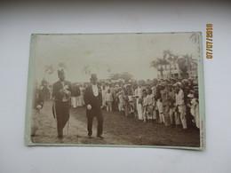 SURINAM  SURINAME HIGH OFFICIALS , OLD REAL PHOTO GLUED ON POSTCARD PAPER  , 0 - Surinam