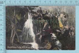 CPA Voyagé 1907-  Brid Al Veil Falls, Still River Byng Inlet Ontario, Animated  - Timbre CND #89 - Non Classés