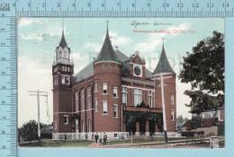 CPA Voyagé 1909-  LOpera House, Municipal Building Orillia Ontario Canada , Valentine  - Timbre CND #89 - Non Classés