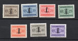 1944 Repubblica Sociale RSI Segnatasse N. 60 - 66 Integri MNH** - Strafport