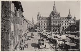 AK - GRAZ - Hauptplatz Und Herrengasse Mit Strassenbahnen 1930 - Sin Clasificación