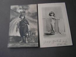 Kinder 2  Alte Karten Lot - Portraits