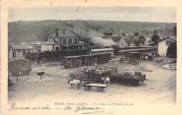 78 - MAULE : La Gare Du Chemin De Fer ( Bonne Animation - Train Wagons Chargement Attelage ) CPA Précuseur - Yvelines - Maule